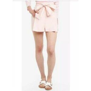 J. Crew Tie-waist short cotton poplin Style G4893